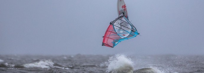 Andy Brown is Storming junior windsurfing.
